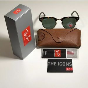 Ray-Ban RB3016 Clubmaster POLARIZED Tortoise Gold